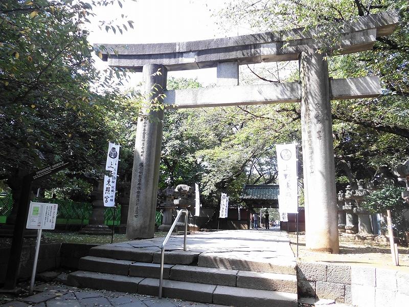 上野東照宮参道の大鳥居