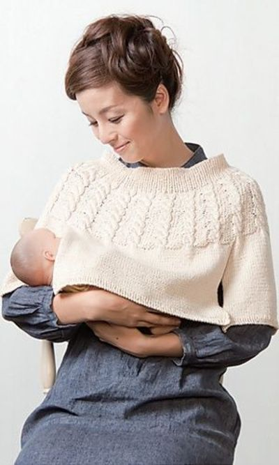 Ravelry Nursing Poncho By Pierrot Clever Knitting