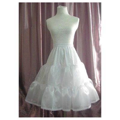 In Stock Polyester White Wedding Petticoat With Elastic