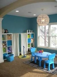 playroom stage cute and simple love the curtains maybe baby time juxtapost