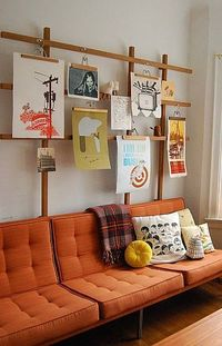 hanging stuffs on wall, lets do it with style