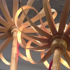 Lamp.pie Flowers. Arce jp.4artwood...