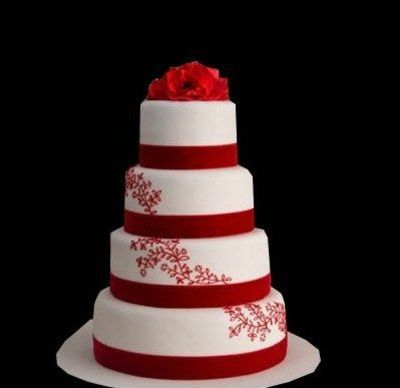 red and white wedding cake   wedding cakes   Juxtapost red and white wedding cake