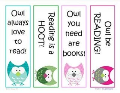 Classroom Freebies Too Owl Be Reading Bookmarks