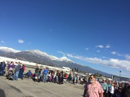 What a backdrop for an airshow