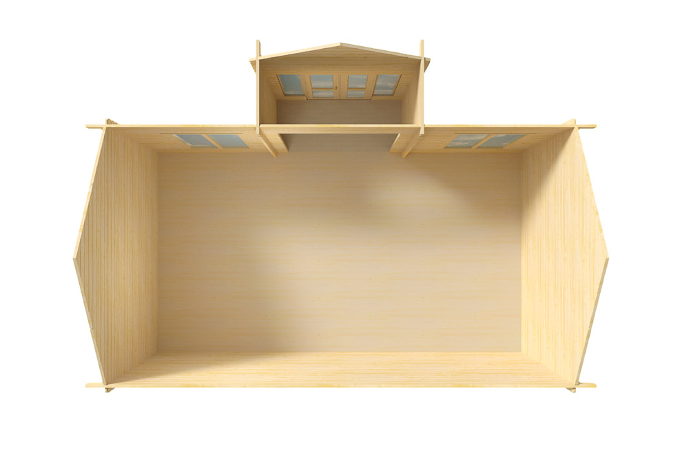 Chalet LILLEVILLA 228 - Vu intérieur au dessus non aménager