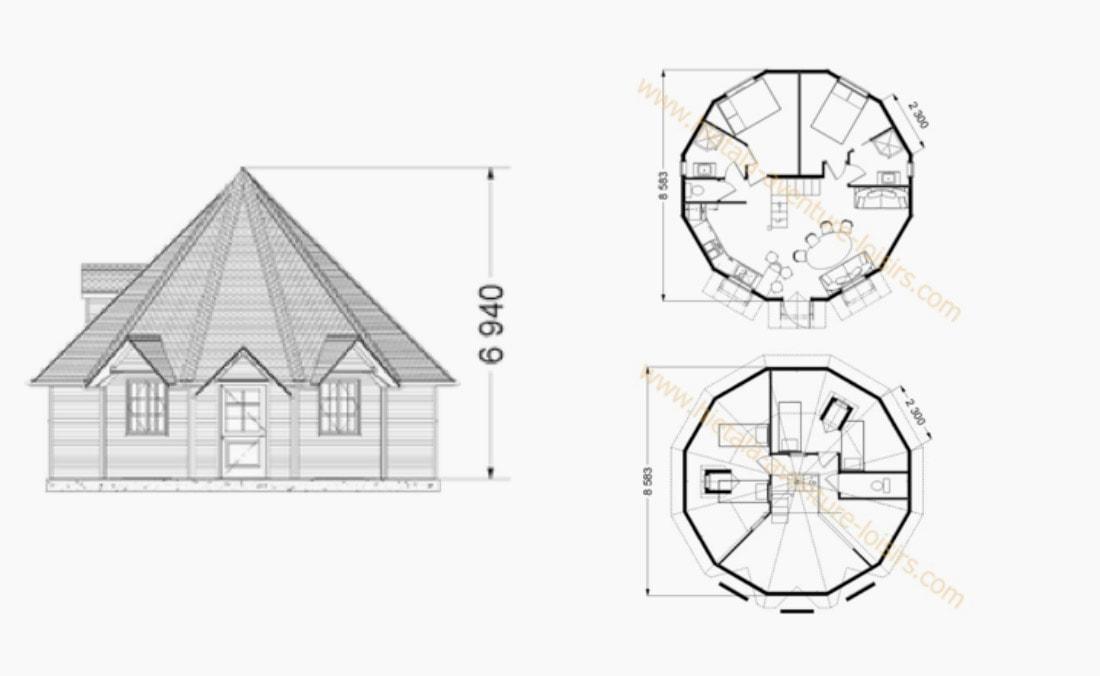 Cottage 54 m2 - Plan