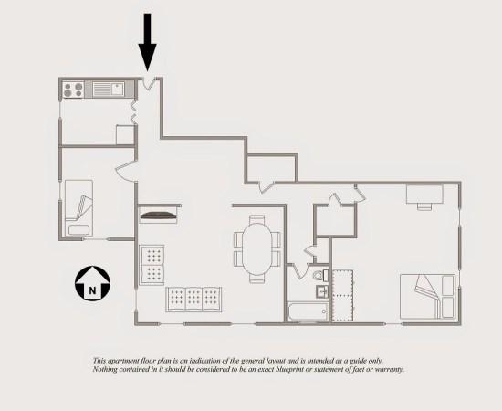 Professional Astoria (Queens) Floor Plan for one bedroom apartment