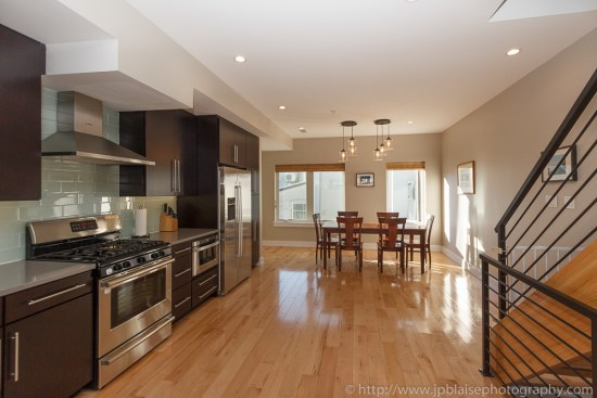 Interior photographer picture: dining table and kitchen