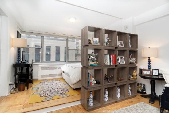 Apartment photographer ny new york real estate union square interior photography Manhattan alcove studio living room