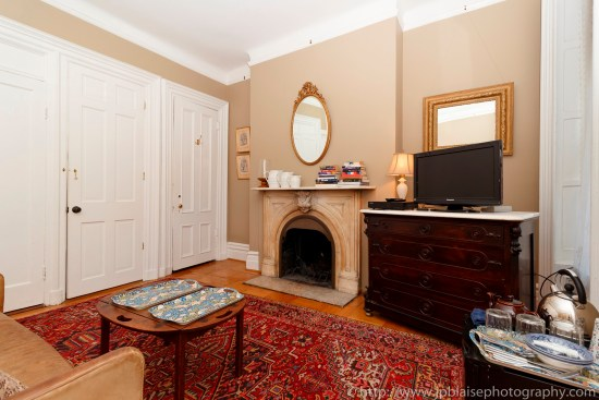 Apartment photographer suite for rent upper east side real estate brownstone airbnb fireplace