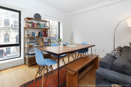 Apartment photographer williamsburg real estate interior dining area