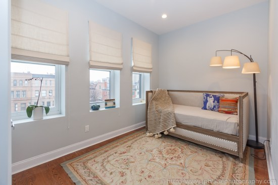 NYC Real Estate photographer photo: Bedroom of Harlem apartment