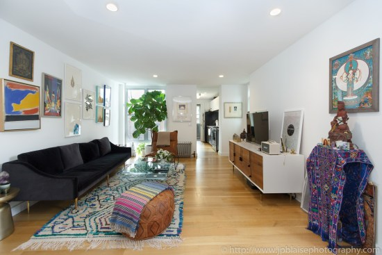 Apartment photographer work west village one bedroom apartment living room