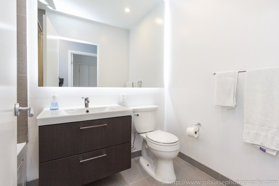 First bathroom of New York City condo apartment