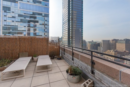 Terrace of downtown brooklyn apartment with beautiful views