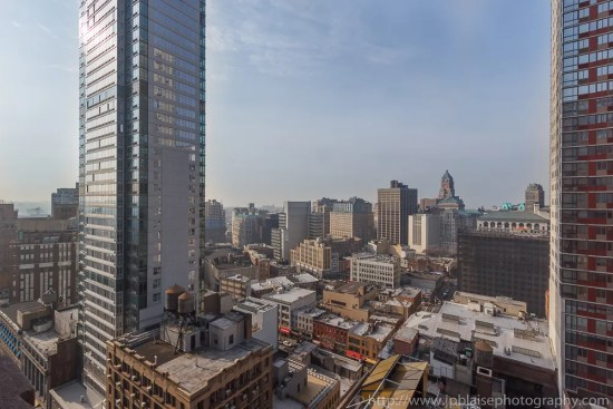 View of Downtown Brooklyn from two bedroom two bathroom condo in New York City