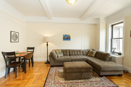 Apartment photography work one bedroom in washington heights new york city
