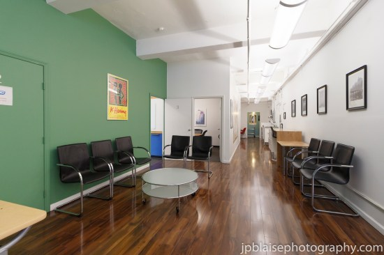 Commercial Real Estate Photographer New York Waiting Room NY photography