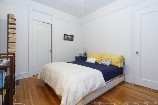 Apartment photographer work: Bedroom of 2 bedroom apartment in Chelsea, New York City