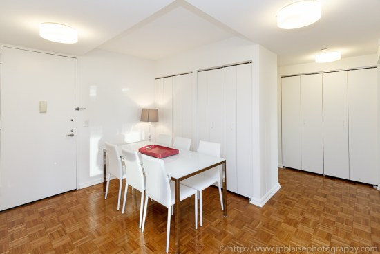 Interior photographer work: dining room of two bedroom apartment in Midtown Manhattan New York City