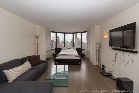 Interior photographer work studio apartment in midtown east New York