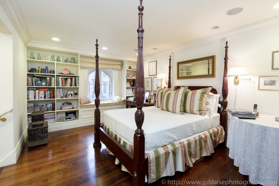 Master bedroom of beautiful townhouse in Boerum Hill, Brooklyn