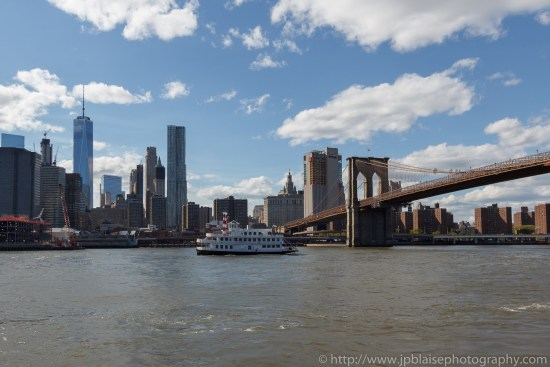 Interior photography views of the manhattan bridge from the brooklyn waterfront