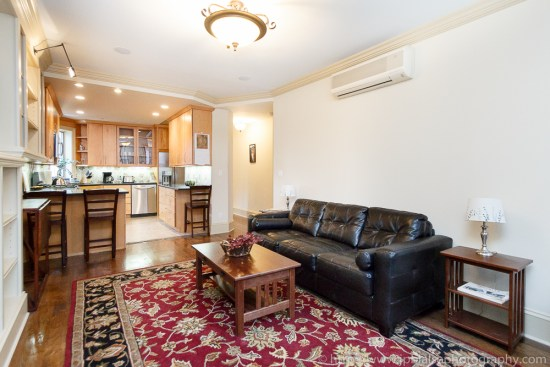 Interior photo of newly renovated three bedroom two bathroom Brooklyn Heights New York Living-Room