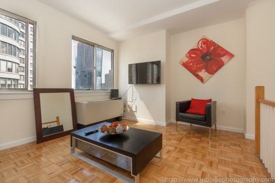 midtown east apartment photographer new york city 1 bedroom duplex with nice views