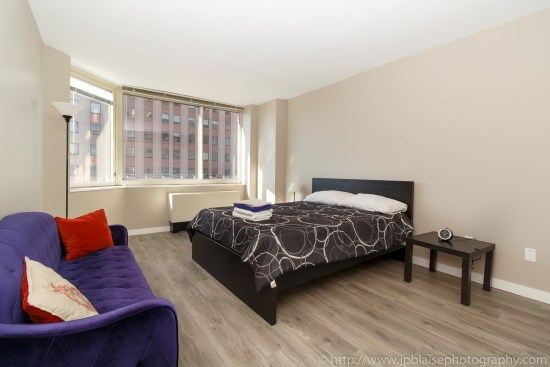 NY Apartement photographer bedroom midtown west master bedroom
