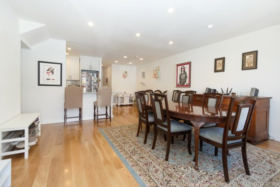 NYC Brooklyn apartment photographer Bushwick two bedroom dining room