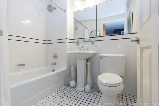 NYC apartment photographer central harlem condo unit new york city bathroom