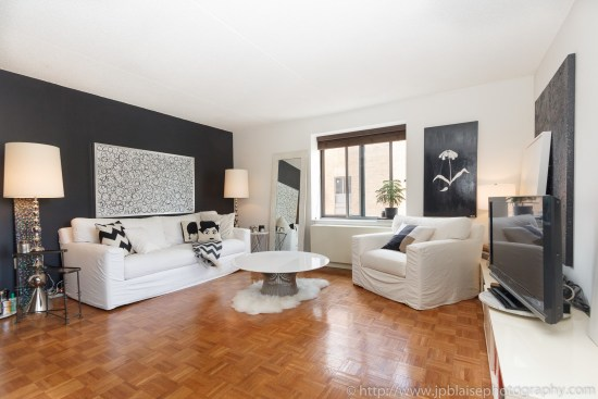 NYC apartment photographer central harlem condo unit new york city living room