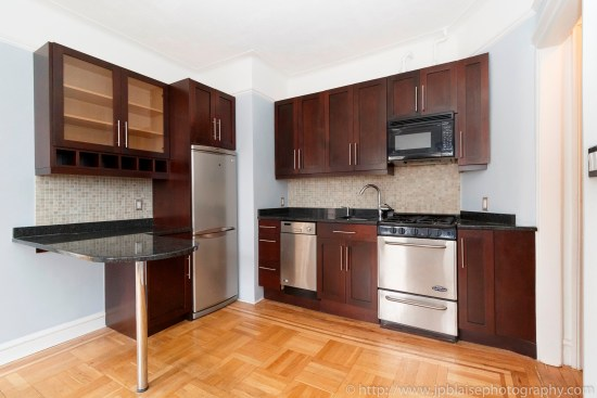 NYC apartment photographer one bedroom coop for sale west village ny real estate photography kitchen