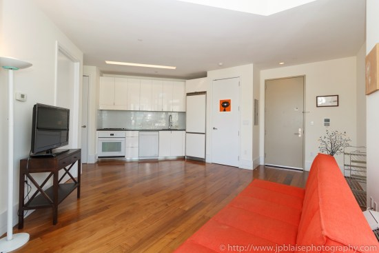 NYC apartment photographer one bedroom real estate interior long island city Queens living room