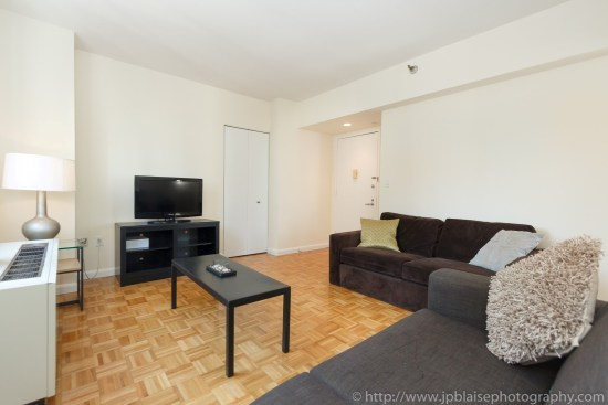 NYC apartment photographer two bedroom midtown living room nyc