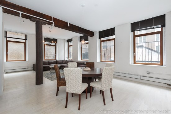 NYC apartment photographer work one bedroom condo in chelsea manhattan dining table