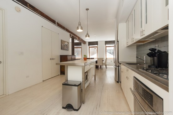 NYC apartment photographer work one bedroom condo in chelsea manhattan kitchen ny