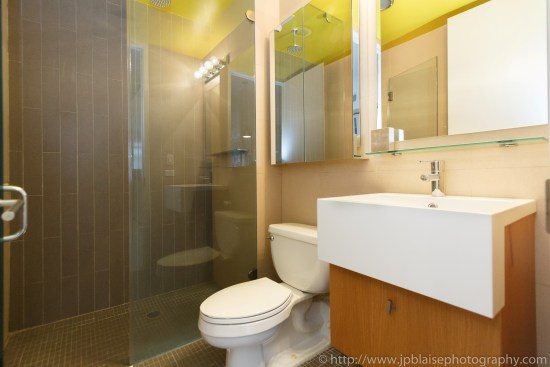 NYC apartment photographer work one bedroom condo in chelsea manhattan bathroom ny