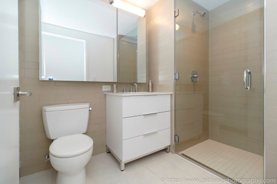 NYC real estate photographer apartment interior architectural airbnb midtown west bathroom