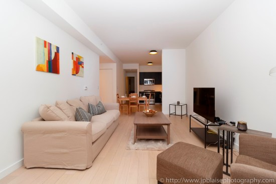 NYC real estate photographer apartment interior architectural airbnb midtown west living room
