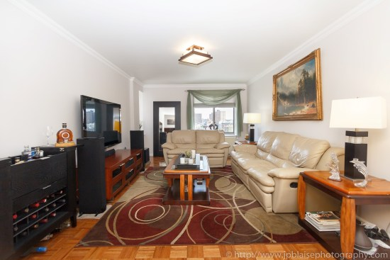 NYC two bedroom apartment photographer central harlem condo unit new york city living room