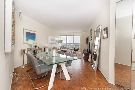 New York City apartment photographer one bedroom Midtown NYC living room