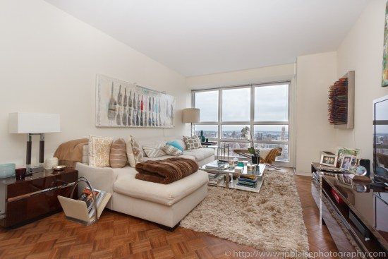 New York City apartment photographer one bedroom Midtown living area