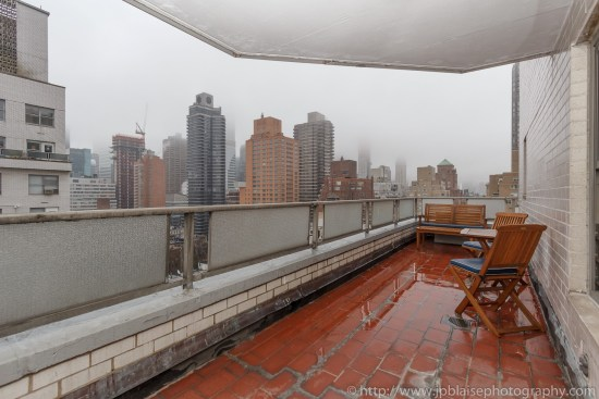 New York City apartment photographer two bedroom unit on the Upper East Side balcony