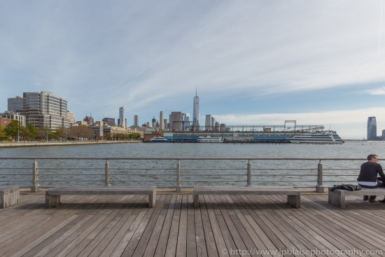 New York Real Estate Photographer One world Trade center and Hudson river park