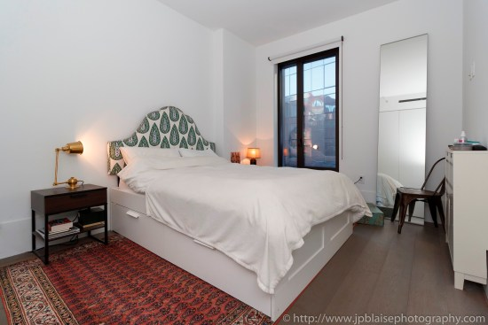 New york apartment photographer real estate interior bedroom Williamsburg Brooklyn ny nyc bedroom