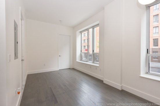Real estate apartment photographer Midtown west 1 bedroom unit living room 2