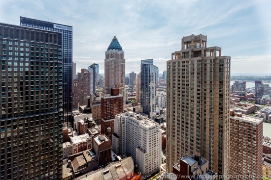 Interior photographer work: Stunning views from Bedroom in midtown Manhattan